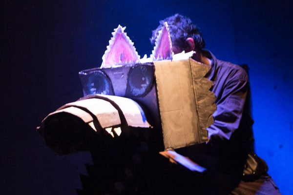 THE OUTLIERS: CAMPFIRE STORIES OF THE FUTURESeptember 16 - 18, 2017World Peace Theatre, KawasakiFeaturing Andrew Woolner, Sasha Aronson, Erik Røger,, and Anisa Dar.Devised by Andrew Woolner, Sasha Aronson, Erik Røger,, and Lindsey KuhnProduction design by Lindsey KuhnSound Design & Music by Chloe KwokSound operator and live guitar by Chris AutryLights designed by Jeremy PlantLights operated by Manami NishidaStage CrewPaula TabarezJiri Terpstra